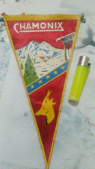 banderin antiguo de chamonix.
