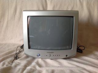 """TV color 14"""" con mando a distancia e instrucciones"""
