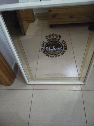 Antiguo espejo cerveza warsteiner