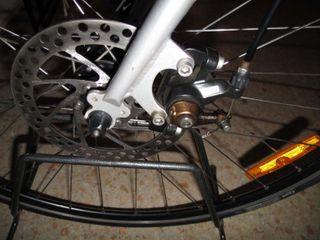 Bicicleta carretera mixta ciudad urbana fixie