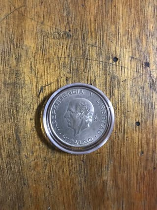 Moneda de Mexico 5 pesos 1956