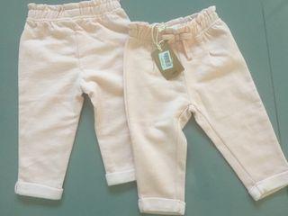 Pantalón chándal rosa 12 meses Gemelas Mellizas