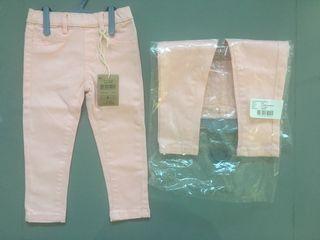Pantalón tipo vaquero rosa 18 meses