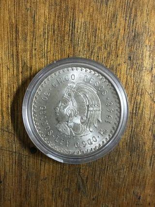 Moneda de Mexico 5 pesos 1948