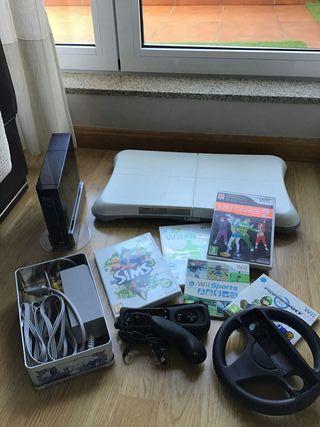 Wii + Balance board + juegos + accesorios