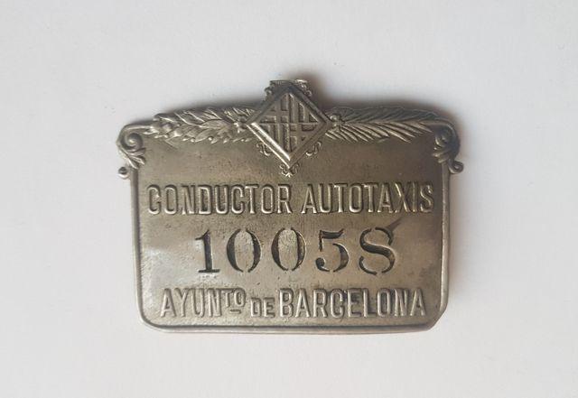 Placa años 50 Taxista Barcelona de segunda mano por 30 € en ...