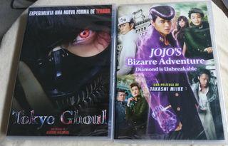 """DVDs:""""Tokyo Ghoul"""" """"Jojo's Bizarre"""". PRECINTADOS"""