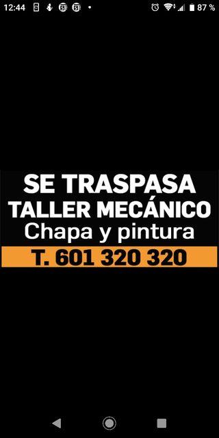 SE TRASPASA TALLER MECÁNICA ELECTRICIDAD Y PINTURA