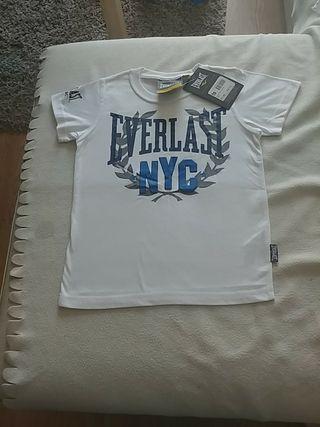 camiseta everlast niño nueva con etiqueta.5-6años