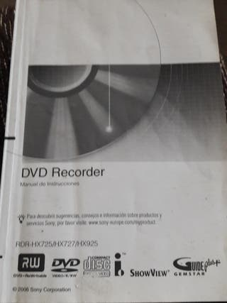 Dvd recorder SONY