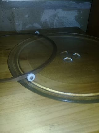 plato de microondas y soporte