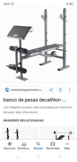 Banco de pesas Decathlon