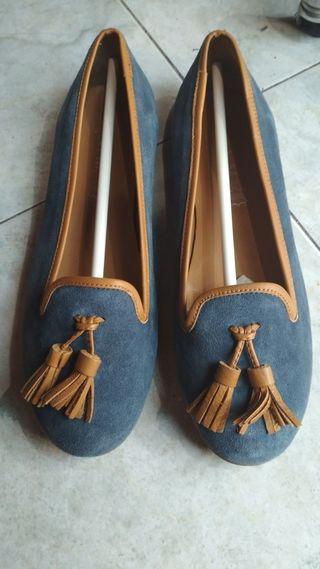 bailarinas azules de piel.38