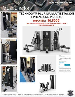TECHNOGYM PLURIMA MULTIESTACION GIMNASIO