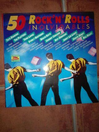 3 vinilos. 50 rock n rolls inolvinables