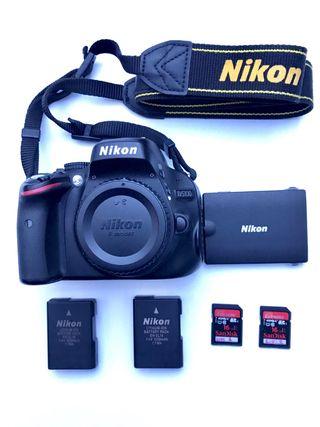 Nikon D5100. MUY NUEVA + 2 baterias +2 Tarjetas.