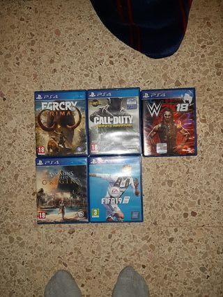 ps4 más 5 juegos
