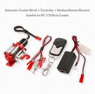 1:10 RC coche de acero cable orugas Winch