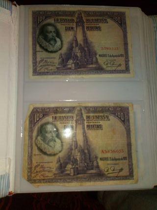 billetes de las pesetas