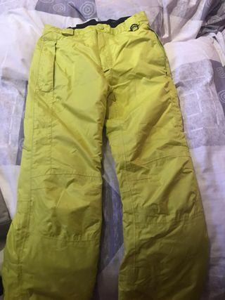 Pantalón esquiar amarillo