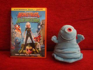 DVD Monstruos contra alienígenas + Peluche Bob