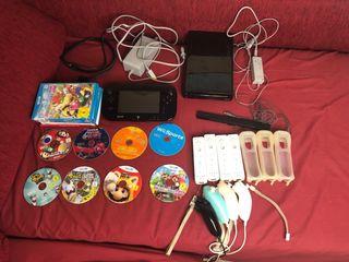 Wii U + 4 mandos + 9 juegos