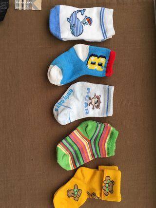 5 pares calcetines de 1-2 años aproximadamente
