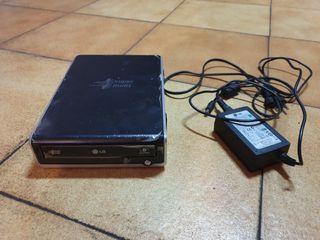 Lector y grabadora LG externa CD-DVD
