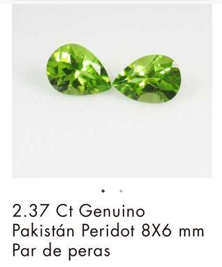 Pendientes anillos esmeraldas peridotos