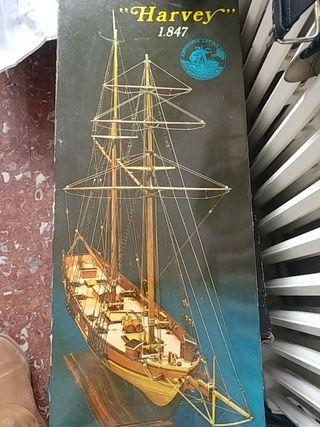 Harvey 1847 maqueta barco