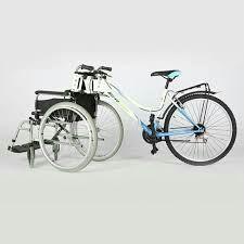 bicicleta con silla de ruedas