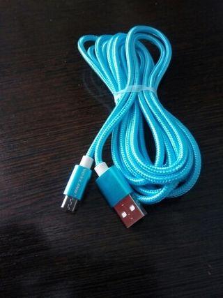 Cable micro usb de 2 metros. Nuevo.
