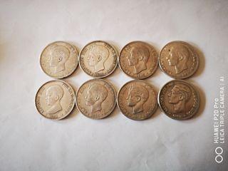 Monedas I república 5pts plata