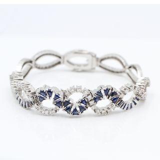 Pulsera de oro con diamantes y zafiros E329565