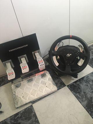 Volante Thurstmaster T500 y pedalera para ps4 o pc