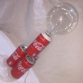 Latalamp lámpara latas Coca Cola