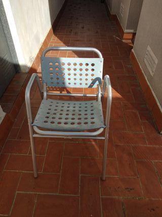 6 sillas de terraza