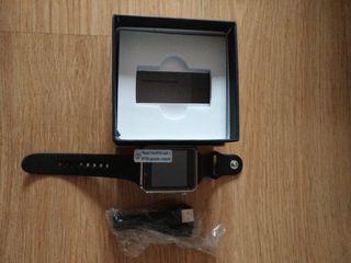 smartwatch, reloj negro nuevo a estrenar