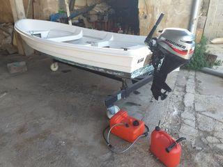 Barca y motor fueraborda