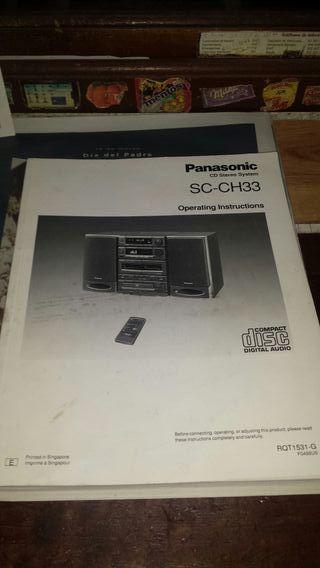 Manual hifi Panasonic