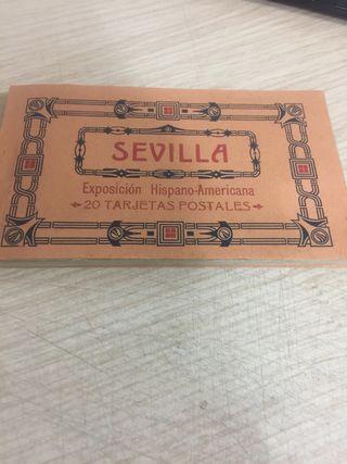 20 postales Sevilla exposición hispano americana