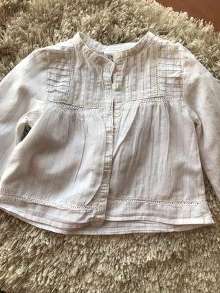 Blusa Zara de tres a seis meses
