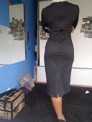 Women Long Sleeve Bodycon Evening Dress Size 8