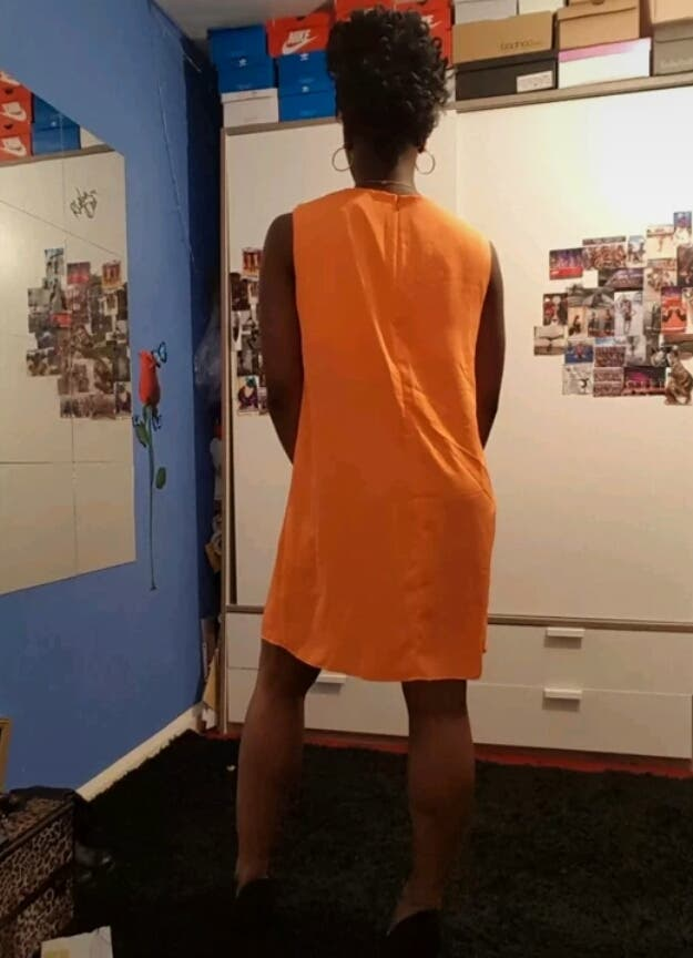 Summer Orange Party Shift Dress Size 14