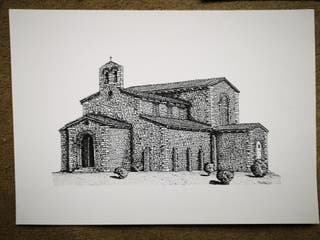 Lote 2 láminas Prerrománico Asturiano
