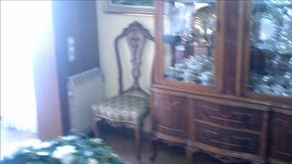 Comedor años 60, mesa, sillas, vitrina y aparador