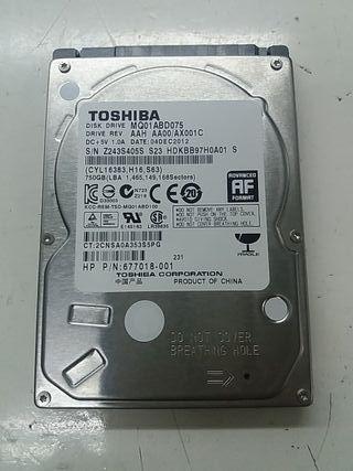 """Disco duro TOSHIBA 750gb 2.5"""""""