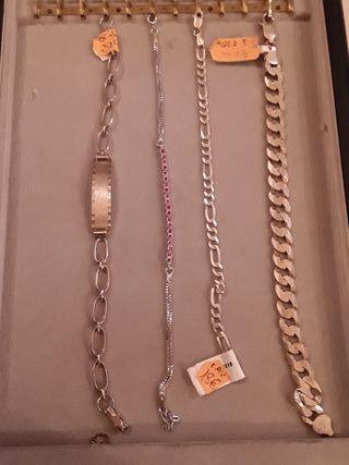 Liquidacion conjunto pulseras plata