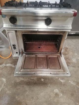 cocina industrial 2 fuegos horno gas