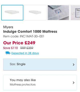 New Indulge Comfort 1000 Mattress
